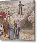 Saint John The Baptist And The Pharisees Metal Print by Tissot