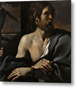 Saint John The Baptist In Prison Visited By Salome Metal Print