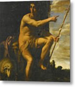 Saint John The Baptist In The Wilderness Metal Print