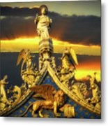 Saint Marks Basilica Facade  Metal Print