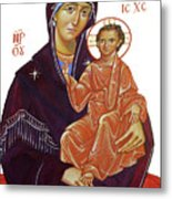 Saint Mary With Baby Jesus Metal Print