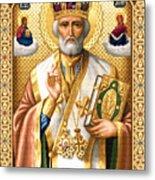 Saint Nicholas Metal Print by Stoyanka Ivanova
