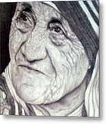 Mother Teresa Saint Of Calcutta  Metal Print