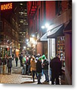 Saint Patrick's Day On Marshall Street Boston Ma Metal Print