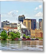 Saint Paul From The Mississippi Metal Print