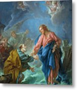 Saint Peter Invited To Walk On The Water Metal Print