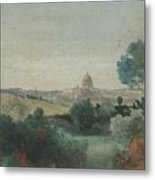 Saint Peter's Seen From The Campagna Metal Print