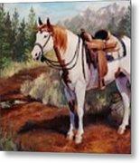 Saint Quincy Paint Horse Portrait Painting Metal Print