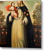 Saint Rose Of Lima With Child Jesus Metal Print