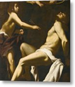 Saint Sebastian Succoured By The Angels Metal Print