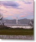 Saint Simon Island Lighthouse Metal Print