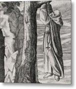 Saint Victorinus Does Penance Metal Print