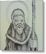 Saint Wulfric The Miracle Worker Metal Print