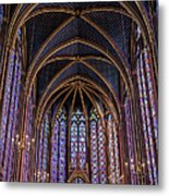 Sainte Chapelle Stained Glass Paris Metal Print