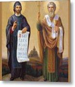 Saints Cyril And Methodius - Missionaries To The Slavs Metal Print by Svitozar Nenyuk
