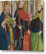 Saints Gregory Maurice And Augustine Metal Print