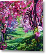 Sakura Romance Metal Print by David Lloyd Glover