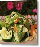 Salad On The Terrace Metal Print by Murtaza Humayun Saeed