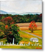 Salem Cemetery In October Metal Print