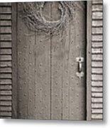 Salem Door Metal Print