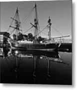 Salem Friendship Reflection Black And White Metal Print