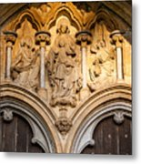 Salisbury Cathedral Doors Metal Print