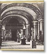 Salle Des Cariatides, Au Mus?e Du Louvre Metal Print