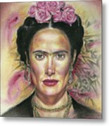 Salma Hayek As Frida Kahlo Metal Print