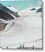 Salmon Glacier, Frozen Motion Metal Print