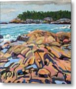 Salmon Rocks Metal Print