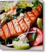 Salmon Salad Metal Print