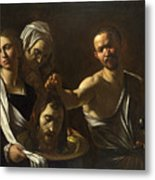 Salome Receives The Head Of Saint John The Baptist Metal Print