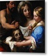 Salome With The Head Of Saint John The Baptist Metal Print by Onorio Marinari