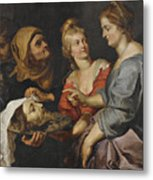 Salome With The Head Of St. John The Baptist Metal Print