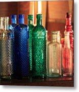 Saloon Bottles Metal Print