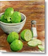 Salt And Lime Metal Print