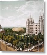 Salt Lake City Metal Print
