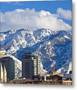 Salt Lake City Skyline Metal Print by Utah Images