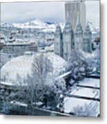 Salt Lake City Tabernacle And Temple Metal Print