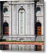 Salt Lake Temple Reflections Metal Print