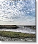 Salt Marsh And Creek, Brancaster Metal Print