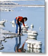 Salt Pillars In Dead Sea Metal Print