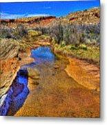 Salt Wash Near Wolf Ranch Arches Np Moab Utah Metal Print