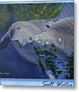 Salt Water Ballet - Manatees - 2 Metal Print