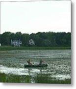 Salt Water Marsh Metal Print