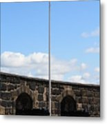 Saltire And Canons Metal Print