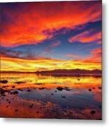 Salton Sea Sunset Metal Print