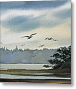 Saltwater Bay Metal Print
