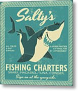 Salty's Fishing Charters Metal Print
