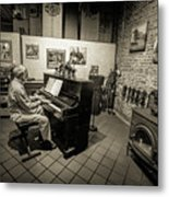 Saluda Piano Man Metal Print